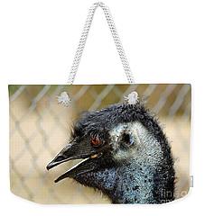 Smiley Face Emu Weekender Tote Bag by Kaye Menner