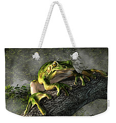 Smiling Frog Weekender Tote Bag by Daniel Eskridge
