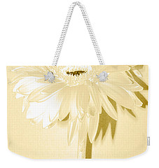 Snow Flake Zinnia Weekender Tote Bag by Sherry Allen