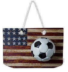 Soccer Ball And Stars And Stripes Weekender Tote Bag by Garry Gay