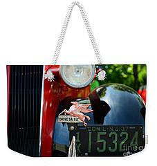 Socony Pegasus License Plate Topper Weekender Tote Bag by Paul Ward