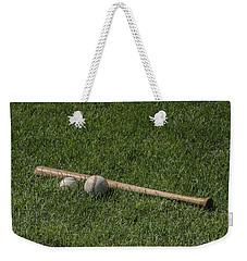 Softball Baseball And Bat Weekender Tote Bag by Bill Cannon