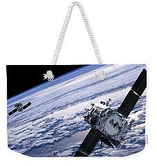 Solar Terrestrial Relations Observatory Satellites Weekender Tote Bag by Anonymous