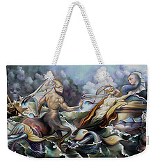 Something Fowl Afloat Redux Weekender Tote Bag by Patrick Anthony Pierson