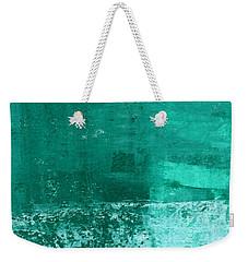 Soothing Sea - Abstract Painting Weekender Tote Bag by Linda Woods