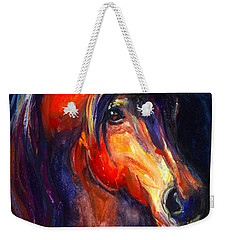 Soulful Horse Painting Weekender Tote Bag by Svetlana Novikova