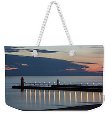 South Haven Michigan Lighthouse Weekender Tote Bag by Adam Romanowicz