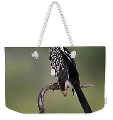 Southern Yellowbilled Hornbill Weekender Tote Bag by Johan Swanepoel