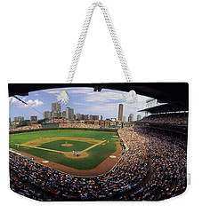 Spectators In A Stadium, Wrigley Field Weekender Tote Bag by Panoramic Images