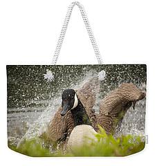 Splishing And Splashing Weekender Tote Bag by Karol Livote