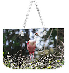 Spoonbill In The Branches Weekender Tote Bag by Carol Groenen