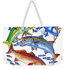 Sportfish Collage Weekender Tote Bag by Carey Chen