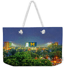 Stadium At Night Weekender Tote Bag by John Farr