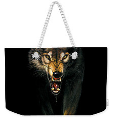Stalking Wolf Weekender Tote Bag by MGL Studio - Chris Hiett