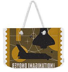 Starschips 01-poststamp - Spaceshuttle Weekender Tote Bag by Chungkong Art