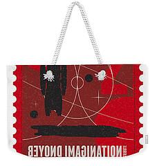 Starschips 02-poststamp - Battlestar Galactica Weekender Tote Bag by Chungkong Art