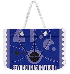 Starschips 21- Poststamp - Sputnik 2 Weekender Tote Bag by Chungkong Art