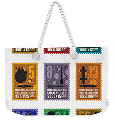 Starships 00 - Overview Weekender Tote Bag by Chungkong Art