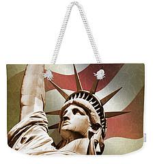 Statue Of Liberty Weekender Tote Bag by Mark Rogan