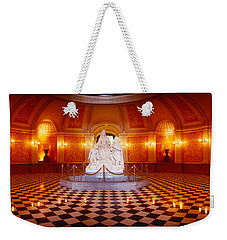 Statue Surrounded By A Railing Weekender Tote Bag by Panoramic Images