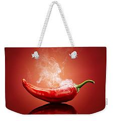 Steaming Hot Chilli Weekender Tote Bag by Johan Swanepoel