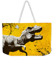 Stencil Trex Weekender Tote Bag by Pixel Chimp