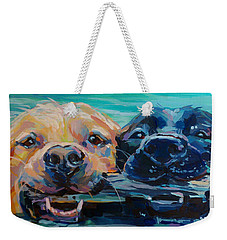 Stick It Weekender Tote Bag by Kimberly Santini