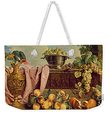 Still Life With A Jug, 1734 Oil On Canvas Weekender Tote Bag by Alexandre-Francois Desportes