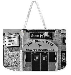 Stone Pony In Black And White Weekender Tote Bag by Paul Ward