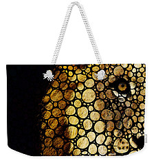 Stone Rock'd Lion - Sharon Cummings Weekender Tote Bag by Sharon Cummings