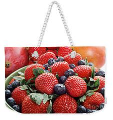 Strawberries Blueberries Mangoes - Fruit - Heart Health Weekender Tote Bag by Andee Design