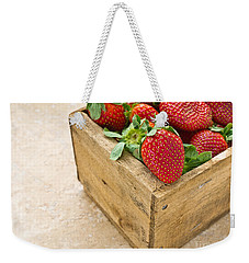 Strawberries Weekender Tote Bag by Edward Fielding