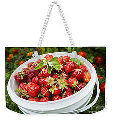 Strawberry Harvest Weekender Tote Bag by Elena Elisseeva