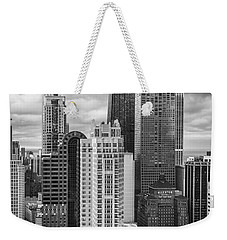 Streeterville From Above Black And White Weekender Tote Bag by Adam Romanowicz