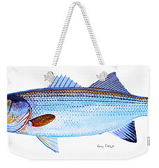 Striped Bass Weekender Tote Bag by Carey Chen