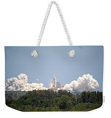 Weekender Tote Bag featuring the photograph Sts-132, Space Shuttle Atlantis Launch by Science Source
