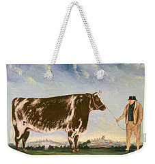 Study Of A Shorthorn Weekender Tote Bag by William Joseph Shayer