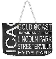 Subway Chicago 2 Weekender Tote Bag by Melissa Smith