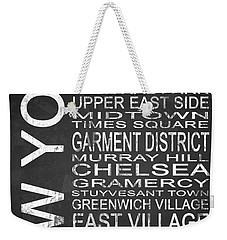 Subway New York 2 Weekender Tote Bag by Melissa Smith
