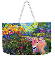 Such A Contented Cow Weekender Tote Bag by Jane Small