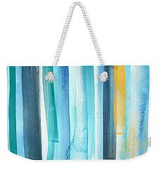 Summer Surf- Abstract Painting Weekender Tote Bag by Linda Woods