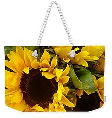 Sunflowers Weekender Tote Bag by Amy Vangsgard