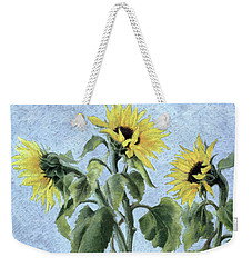 Sunflowers Weekender Tote Bag by Cristiana Angelini