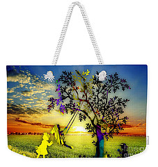 Sunset And Play Weekender Tote Bag by Marvin Blaine