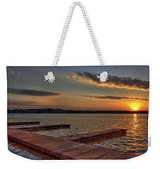Sunset Docks On Lake Oconee Weekender Tote Bag by Reid Callaway