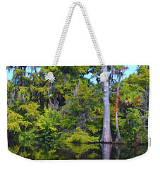 Swamp Land Weekender Tote Bag by Carey Chen