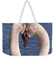 Swans Painting Weekender Tote Bag by Rachel Stribbling