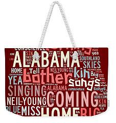 Sweet Home Alabama 4 Weekender Tote Bag by Paulette B Wright