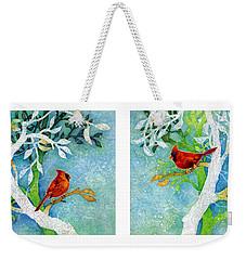 Sweet Memories Diptych Weekender Tote Bag by Hailey E Herrera