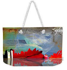 Sydney Australia Skyline Watercolor Weekender Tote Bag by Marvin Blaine